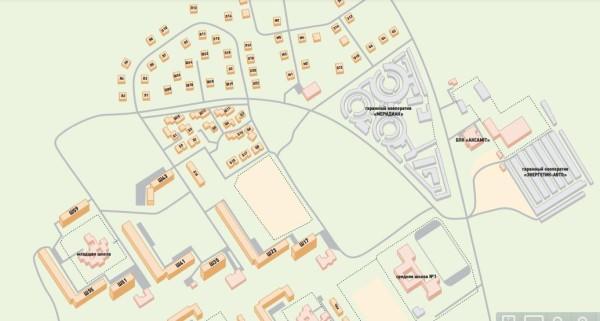 Карта посёлка Дружный в 3D